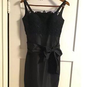 Elie Saab Lace Bodice Silk Blend Dress $3500